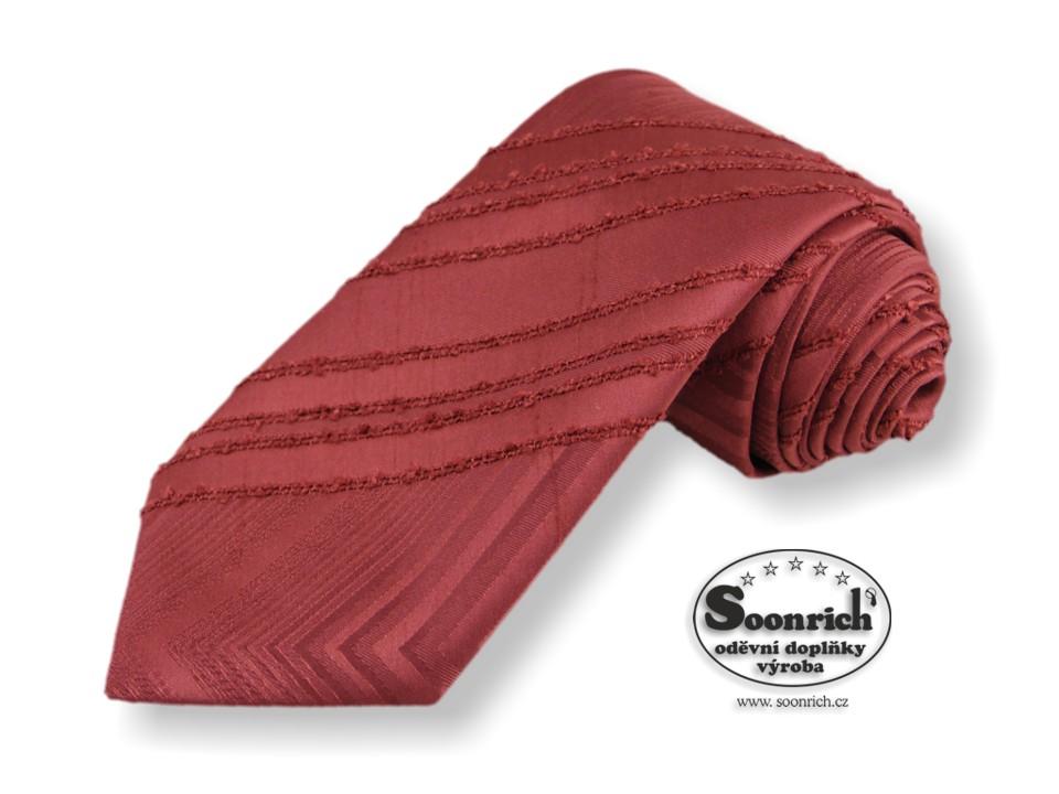 Soonrich, kravata tkaná červená Londýn, kln006
