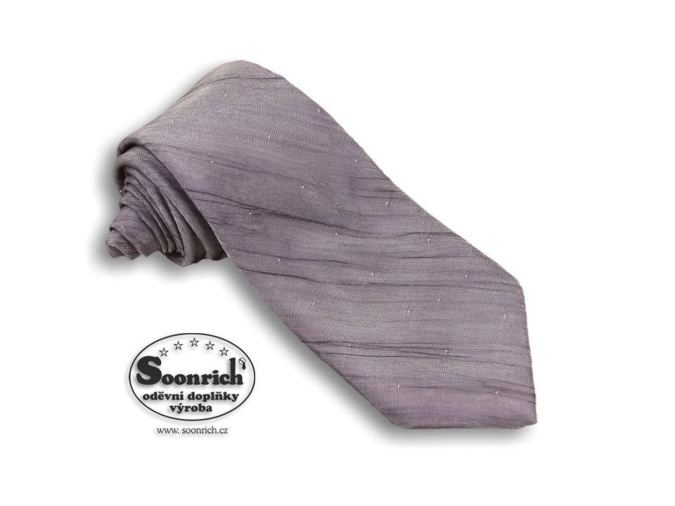 Soonrich, kravata fialová luxus, klx010
