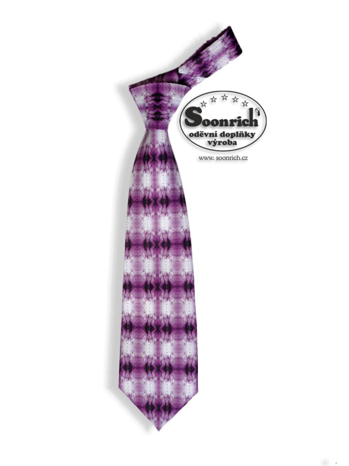 Soonrich, kravata fialová noha , kor019