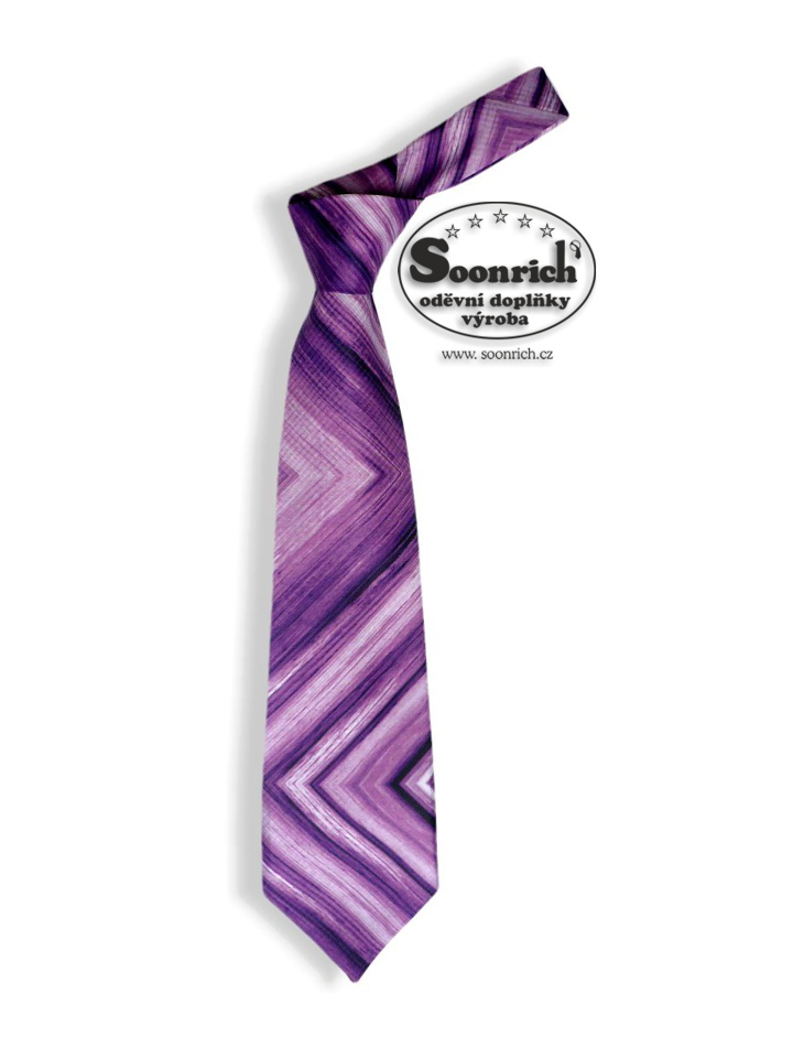 Soonrich, kravata fialová duha , kor025