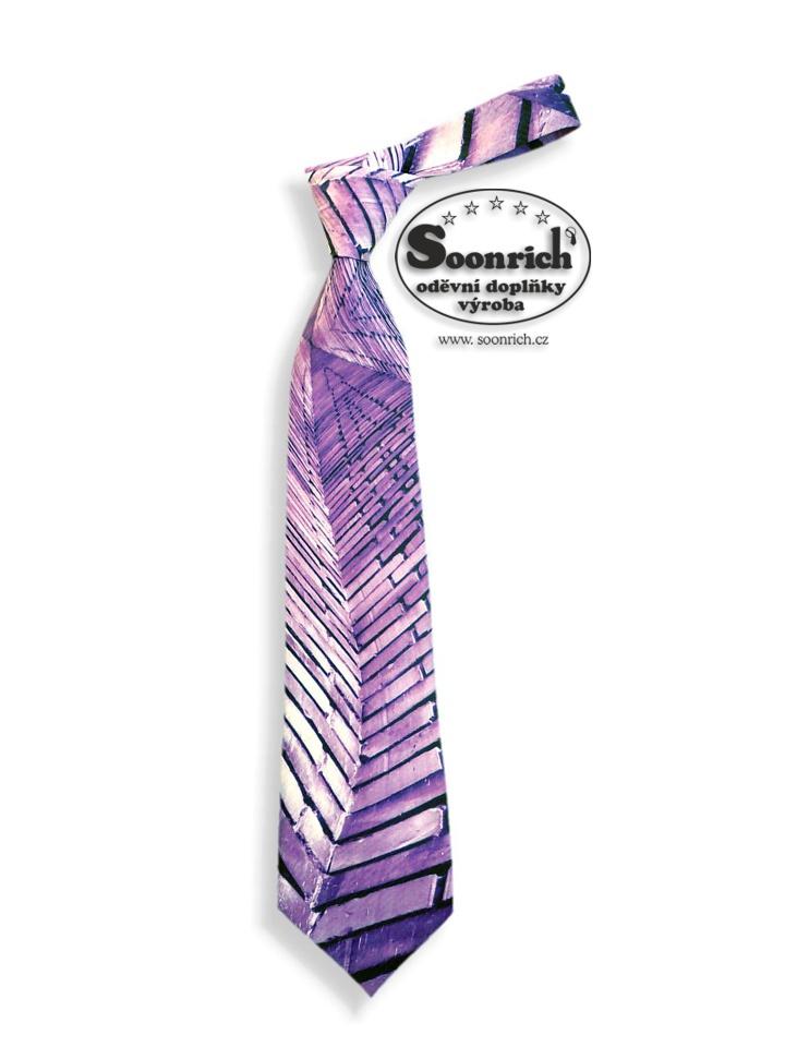 Soonrich, kravata fialová rock, kor037