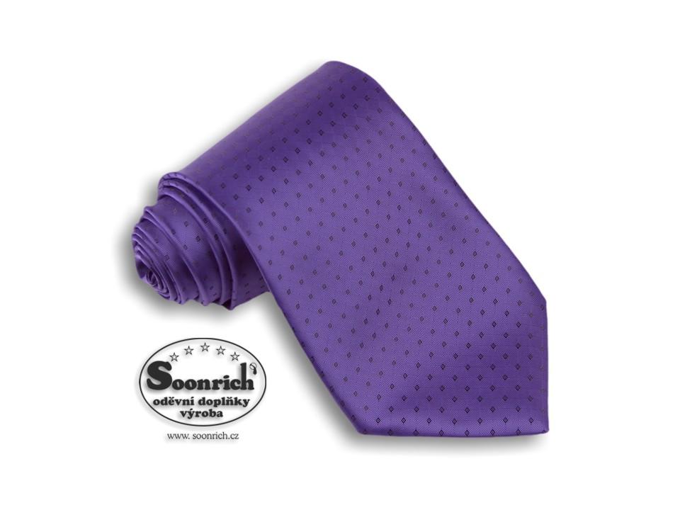 Soonrich, kravata tkaná fialová World, kwr011