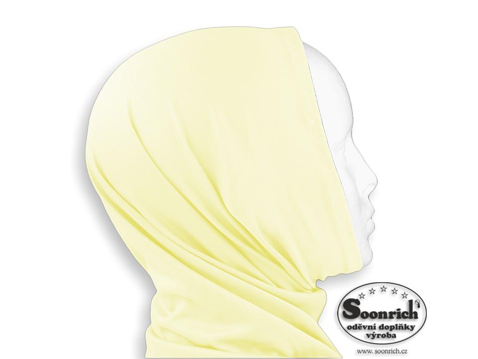 Soonrich, multifunkční šátek elastický žlutý, sel023
