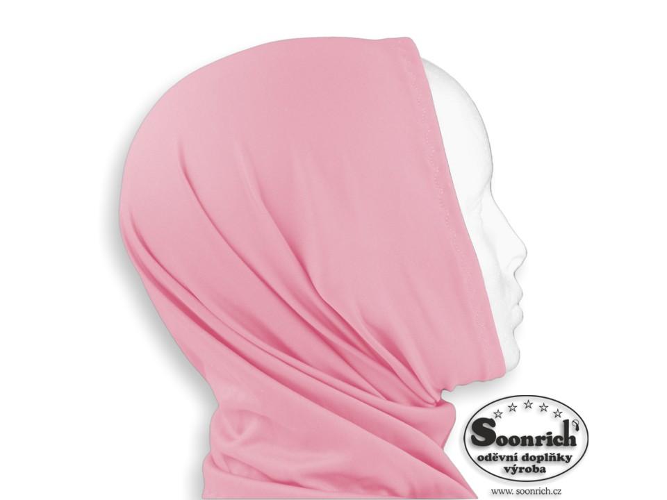 Soonrich, multifunkční šátek elastický růžový, sel025
