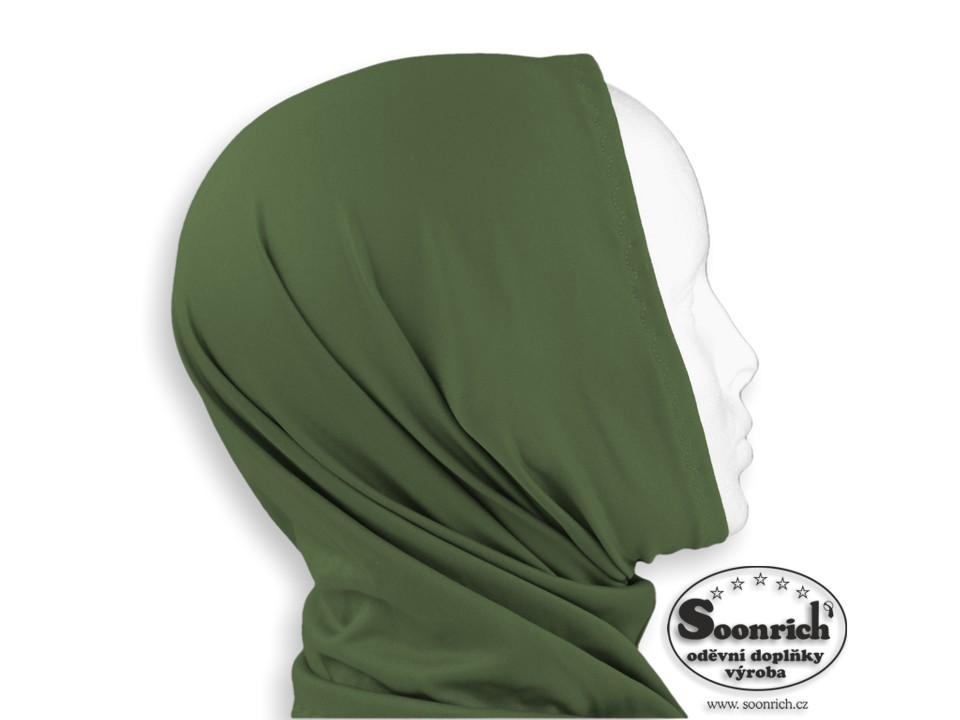 Soonrich, multifunkční šátek elastický zelený, sel035