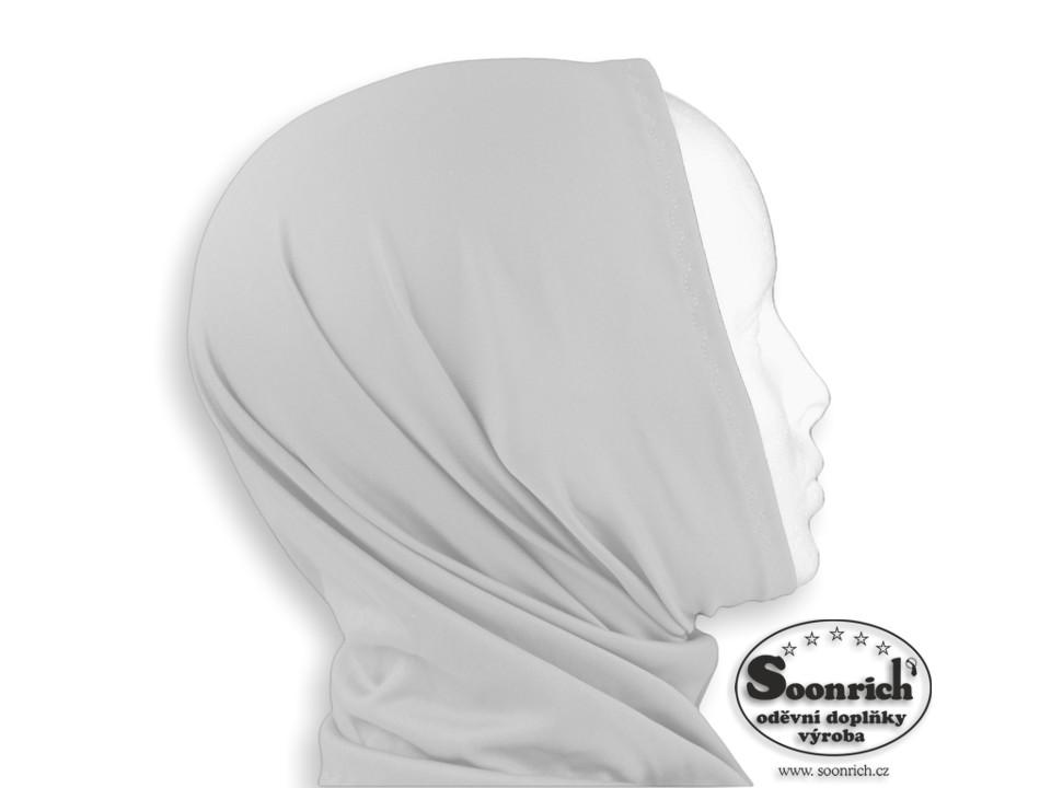 Soonrich, multifunkční šátek elastický šedý, sel036