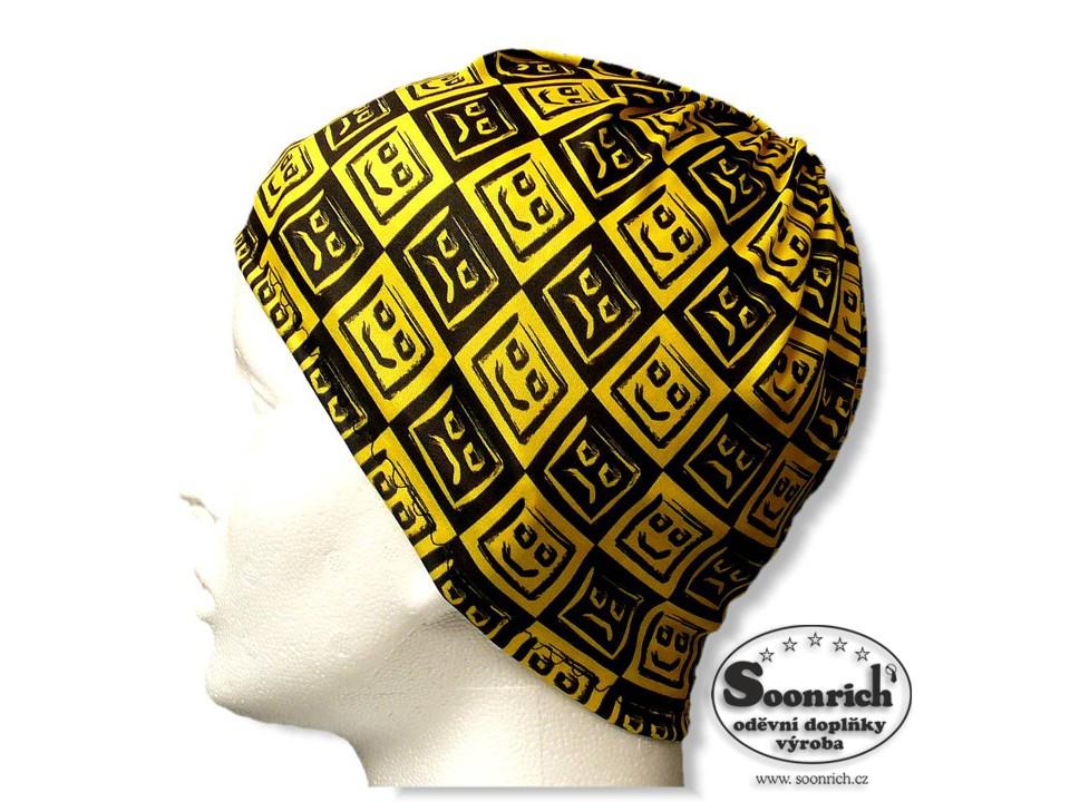 Soonrich, multifunkční šátek žlutý, smajlíci, seor002