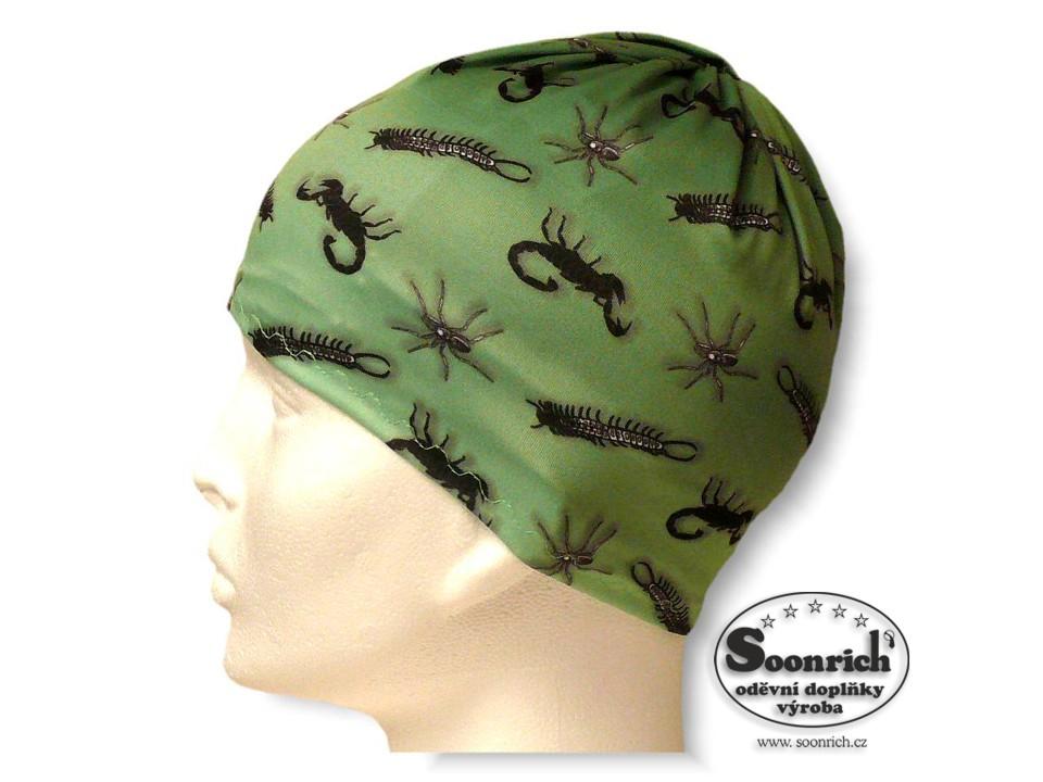 Soonrich, multifunkční šátek zelený, pavouci, seor011