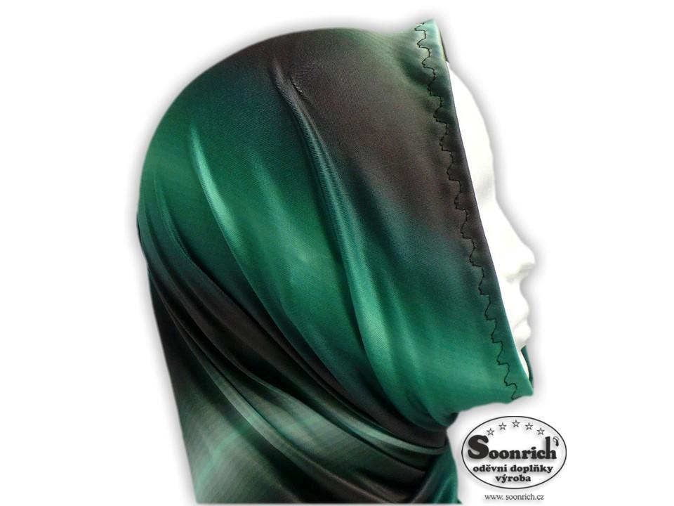 Soonrich, multifunkční šátek zelený, duhový, seor017