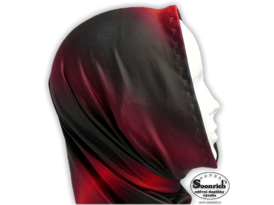 Soonrich, multifunkční šátek červený, duhový, seor020