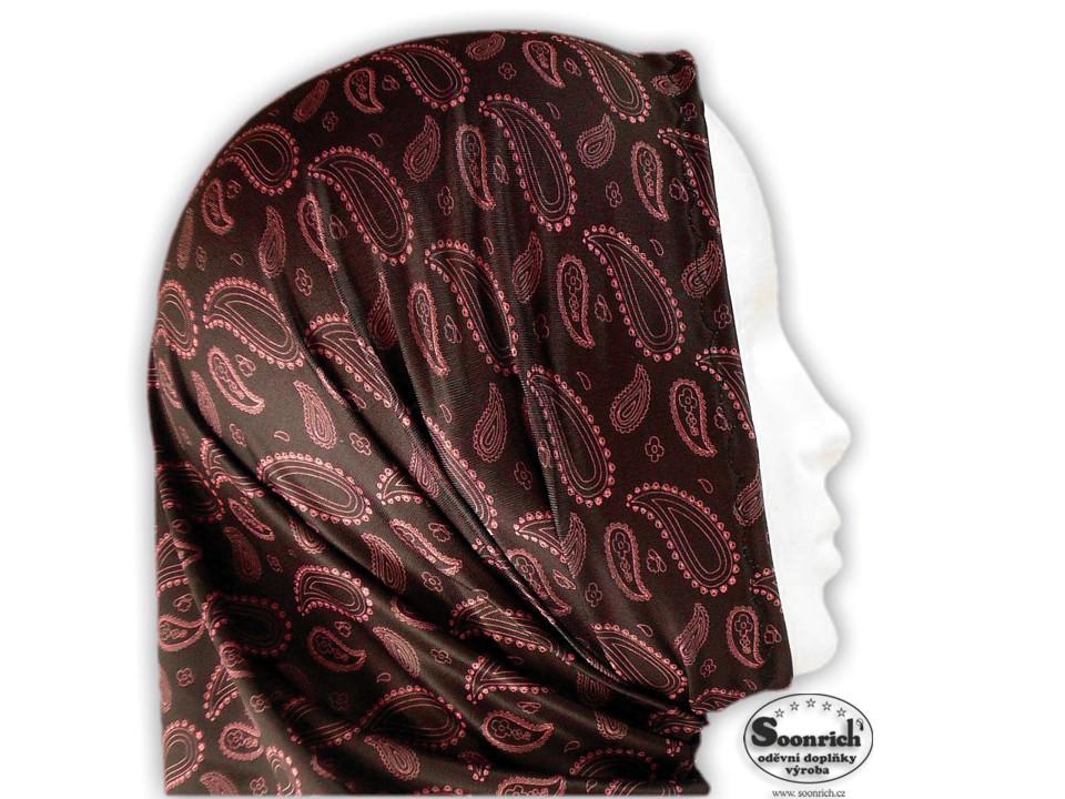 Soonrich, sportovní šátek růžový, kašmír, seor049