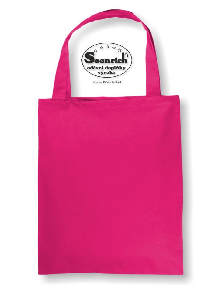 Soonrich, bavlněná nákupní taška růžová, ntk206