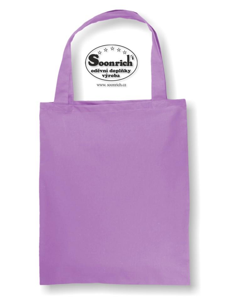 Soonrich, bavlněná nákupní taška fialová, ntk209
